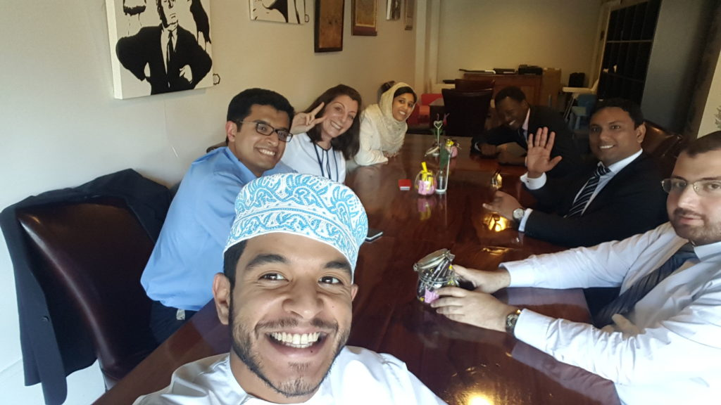 Millennial employees in a meeting at Protiviti Oman